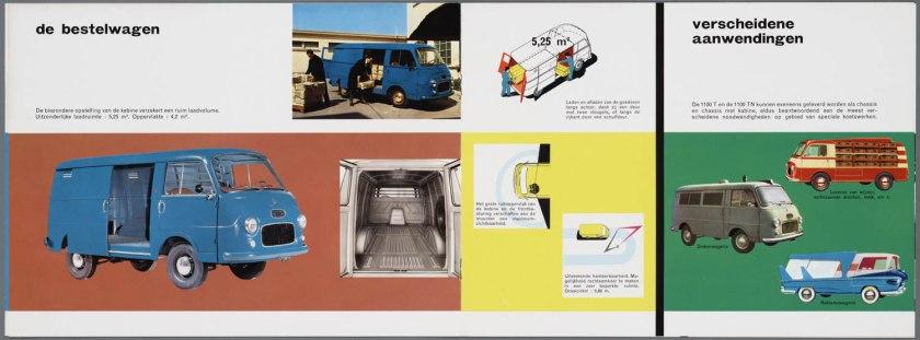 1965 FIAT 1100 T(benzine) TN (Diesel) Bedrijfswagen Brochure b