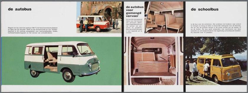 1965 FIAT 1100 T(benzine) TN (Diesel) Bedrijfswagen Brochure c