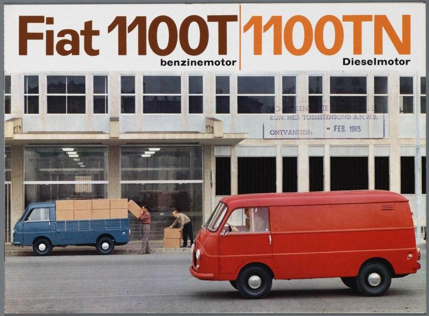 1965 FIAT 1100 T(benzine) TN (Diesel)  Bedrijfswagen Brochure