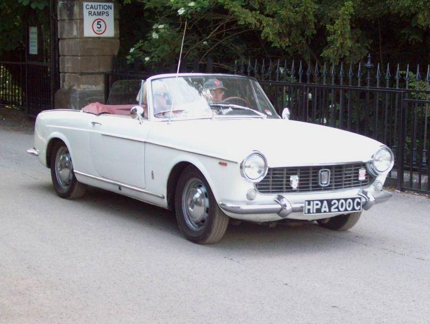 1965 Fiat 1500 Cabriolet Engine 1481 cc S4