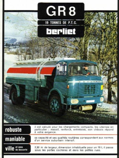 1966 BERLIET GR 8 Pétrolier Ad