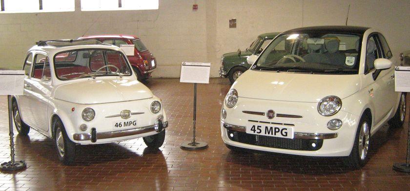 1966 Fiat Nuova 500F and 2008 Fiat 500