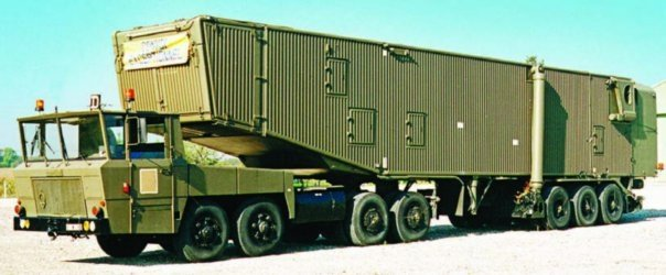 1968 Berliet ТF (8x8) tractor allotted to missile transporter VTE