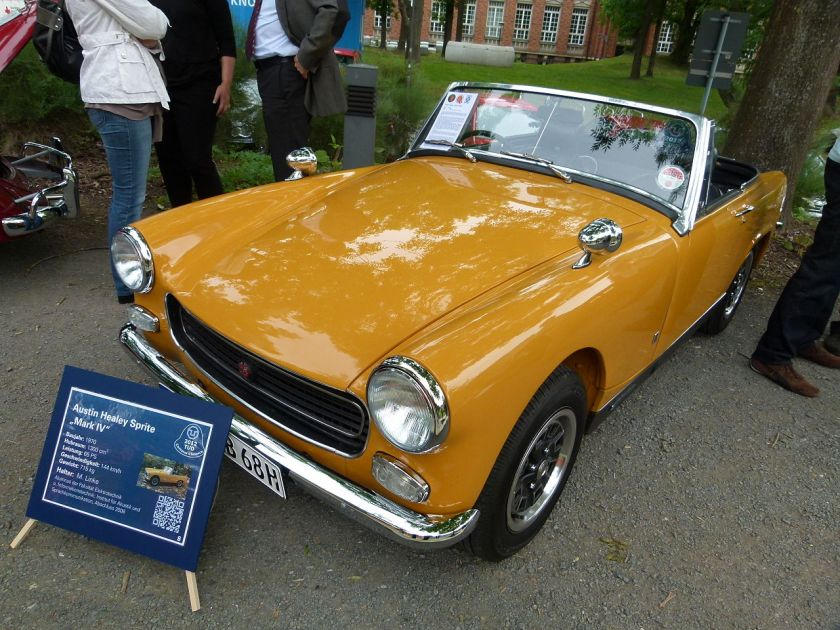 1970 Austin-Healey Sprite Mark IV with revised grille and cat-alloy wheels