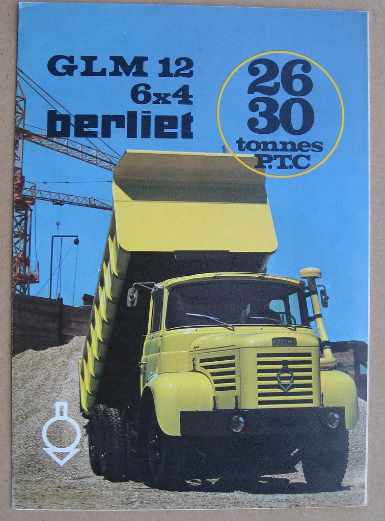 1970 Berliet 6x4 Ad