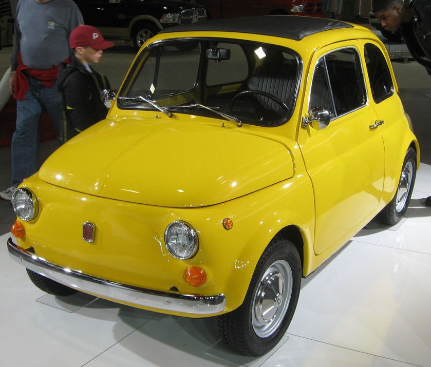 1970 Fiat 500 photographed at the 2011 Washington (D.C.) Auto Show.