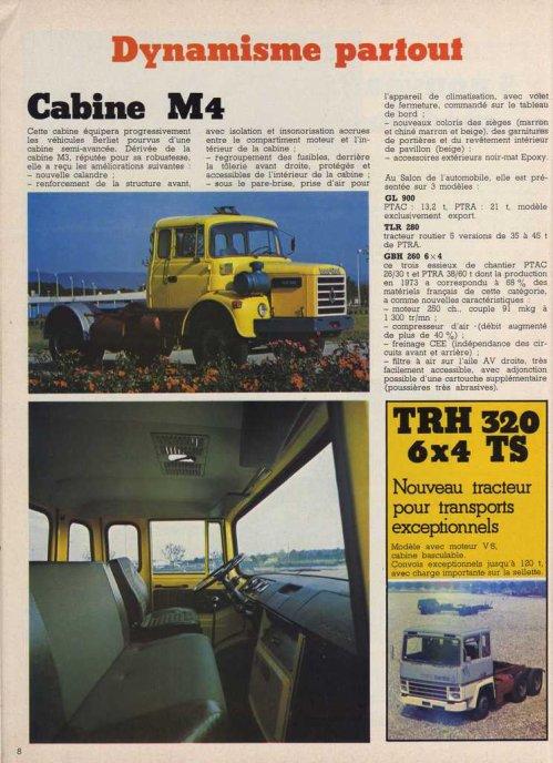 1974 BERLIET AD