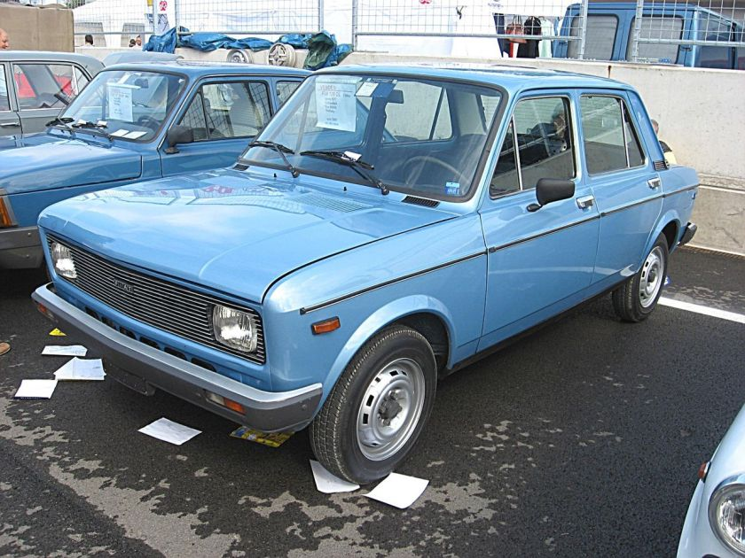 1976 Second series Fiat 128 with new rectangular headlights