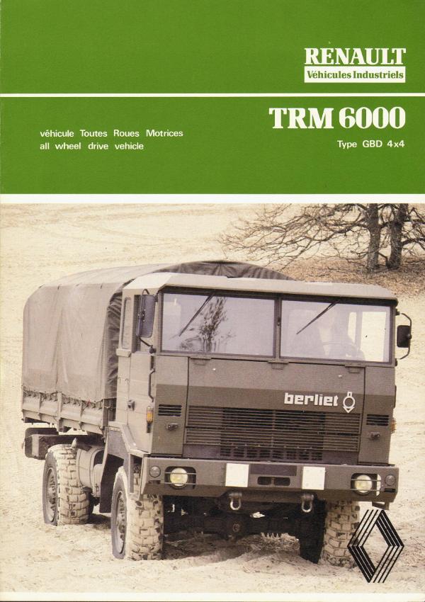 1978 Berliet TRM 6000 type GBD 4x4