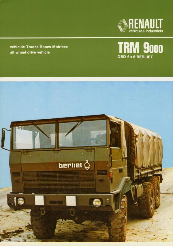 1978 Berliet TRM 9000 type GBD 6x6