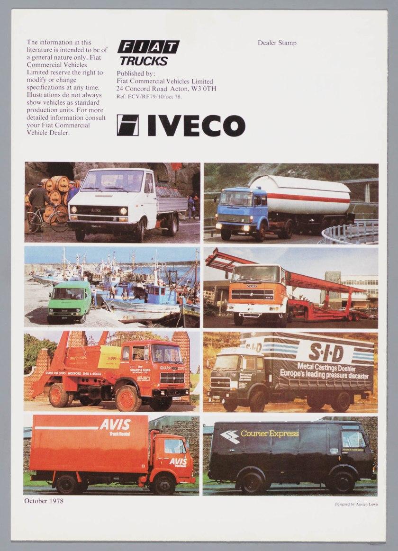 1979 FIAT Bedrijfswagens Range Brochure