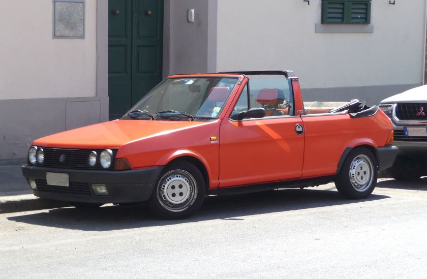 1982 Fiat Ritmo 2-door Bertone 2nd (1982) series cabriolet with open top