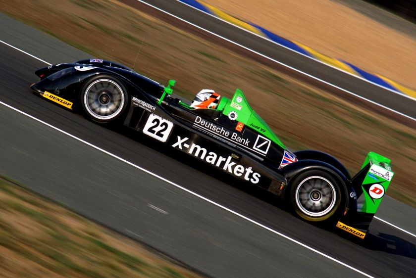2006 Rollcentre Racing's Radical SR9 at the 2006 24 Hours of Le Mans. Radical LMP2 2006