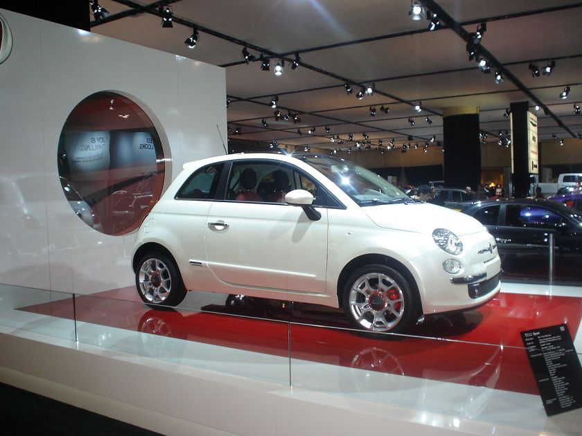 2010 Fiat 500 on display at the 2010 Canadian International Autoshow in Toronto