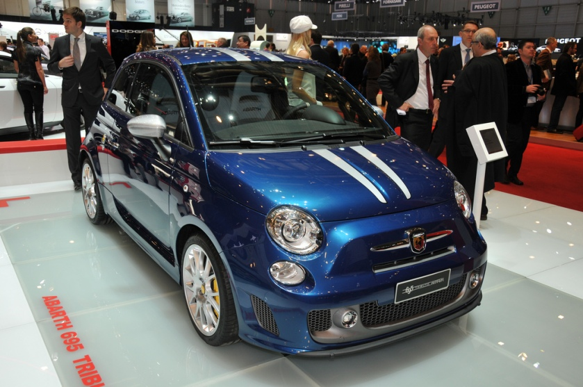 2011 Abarth 695 Tributo Ferrari at the Geneva Motor Show 2011.