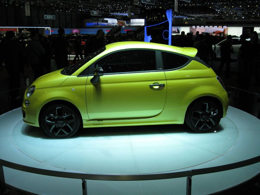 2011 Fiat 500 Coupe Zagato concept at the 2011 Geneva Motor Show.