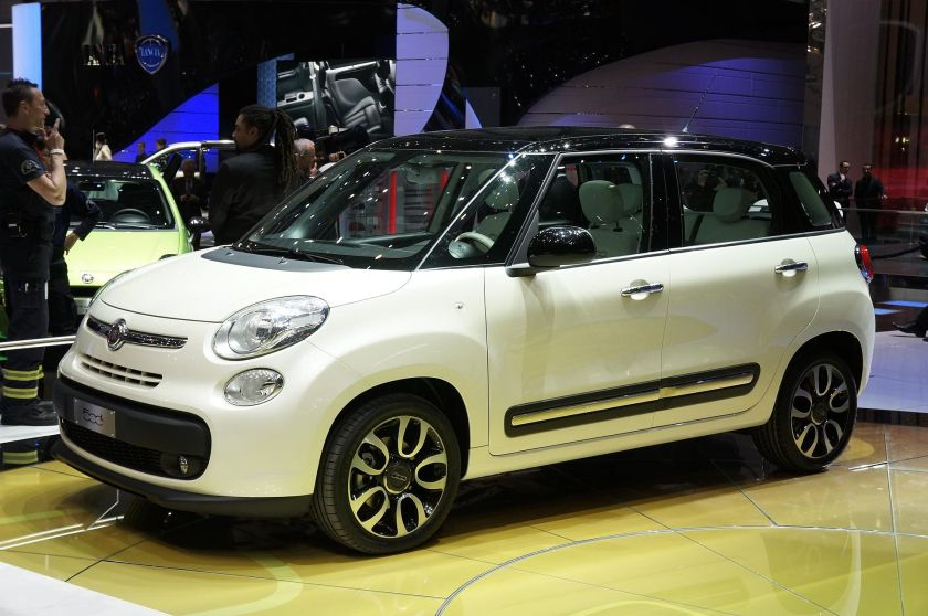 2012 Fiat 500L at the 2012 Geneva Auto Show.