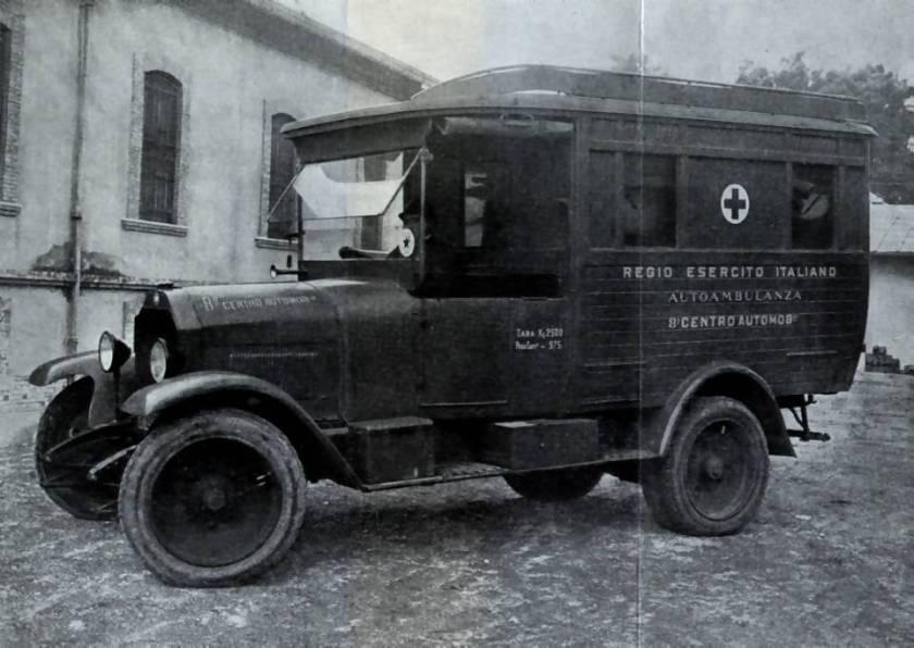 Ambulanza del Regio Esercito su Fiat 15 ter