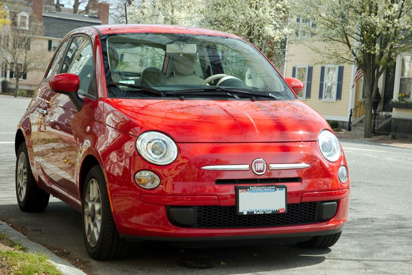 Fiat 500 seen in the United States