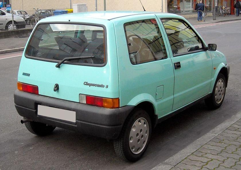 Fiat Cinquecento S rear