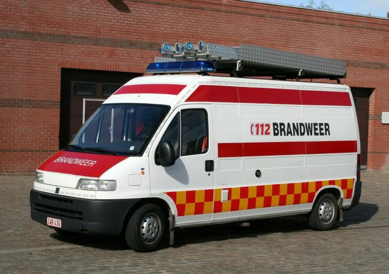 Fiat Ducato 2,0. Brandweer Blankenberge