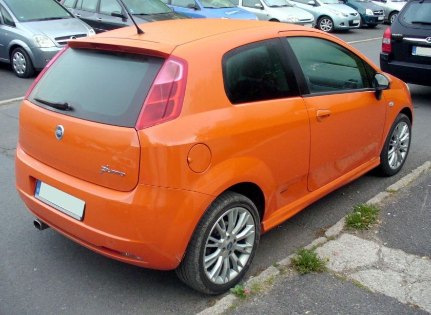 Fiat Grande Punto Sport 3-door rear view