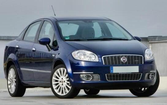 Fiat Linea frontale versione Turbo 120 cv 1.4