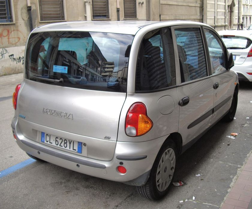 Fiat Multipla silver rear
