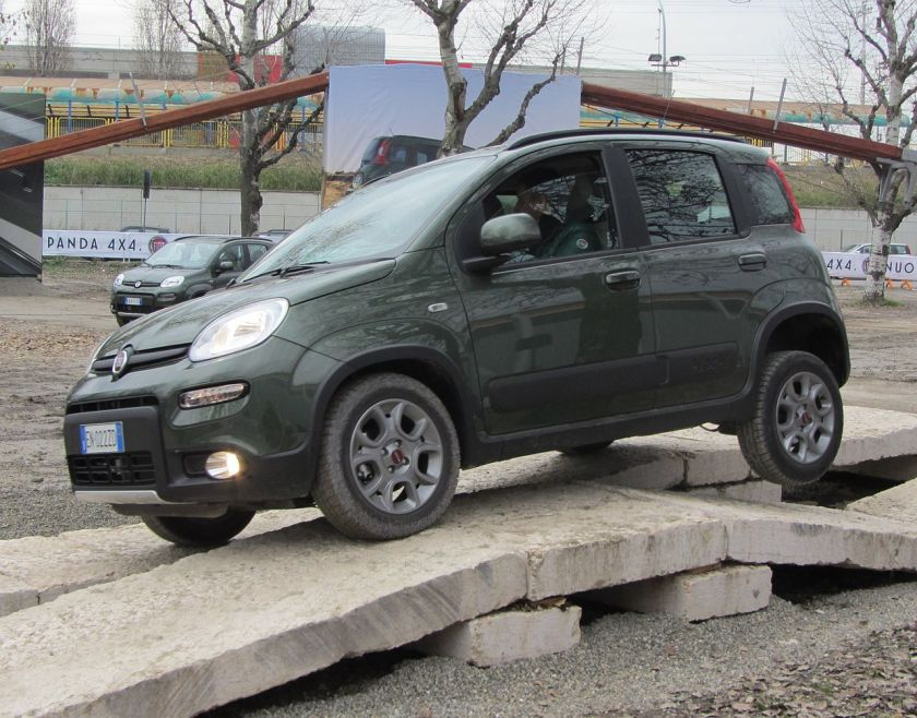 Fiat Panda 4x4 in action.