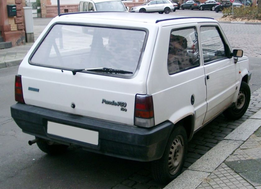 Fiat Panda rear original second facelift