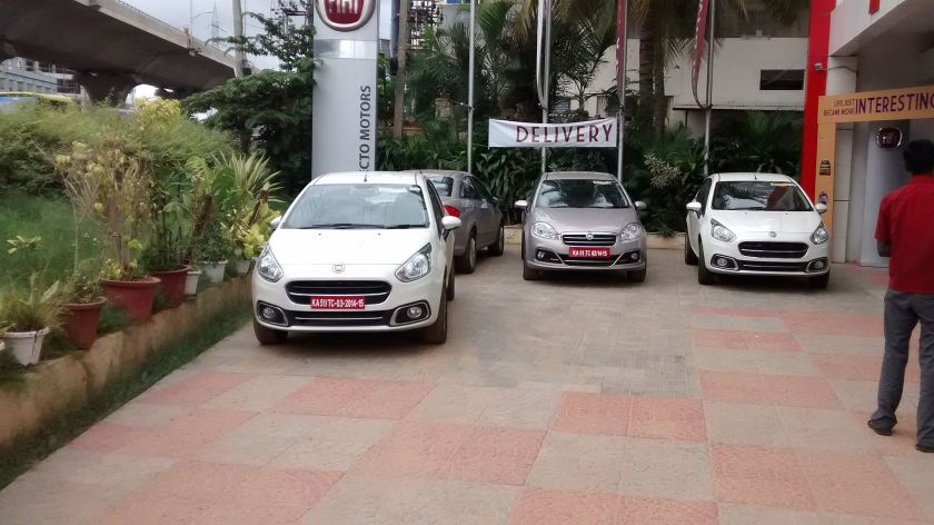 Fiat Punto Evo 2014 at a dealership in Bangalore