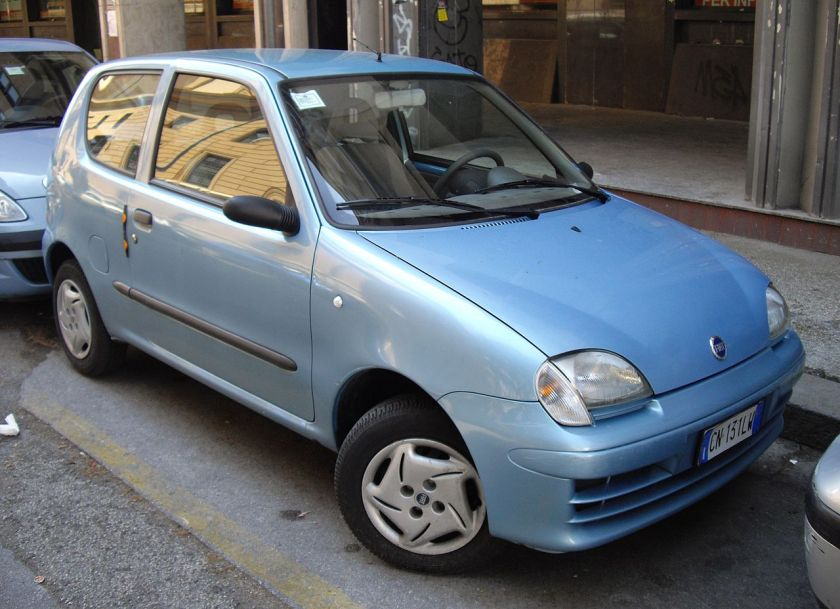 Fiat Seicento car in Italy.
