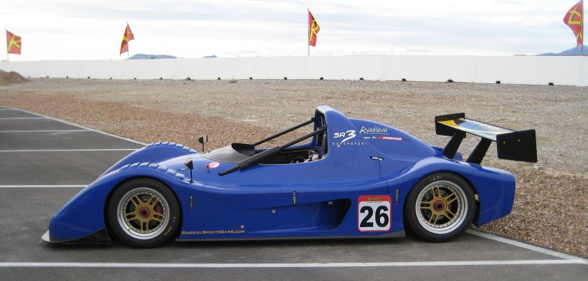 SR3 Supersport model at the Spring Mountain Motorsports Ranch Radical Racing School.