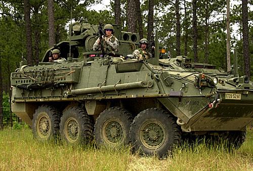 Stryker (amerikanische Variante des Mowag Piranhas)