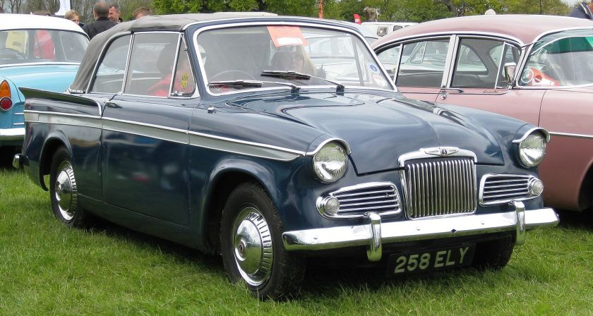 Sunbeam Rapier convertible at Battlesbridge Classic car Show