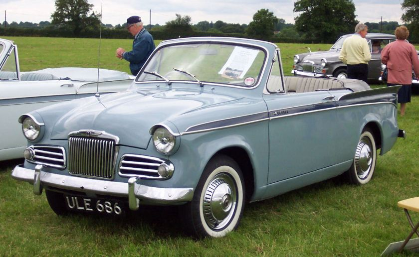 Sunbeam Rapier Series 2 Convertible. Picture by David Parrott