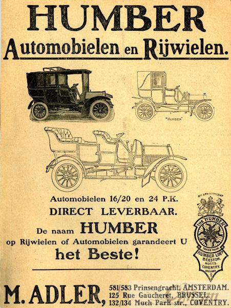 1906 humber adler