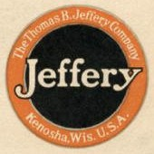 1916 Thomas B. Jeffery Company logo in a 1916 brochure for their automobile