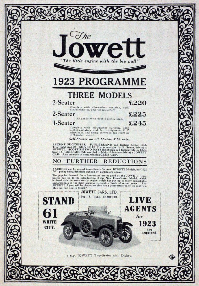 1922 Jowett Ad