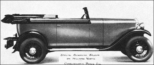 1931 hillman vortic tourer
