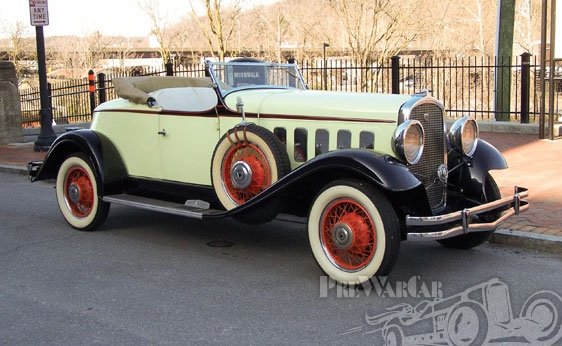 1931 Hudson Greater Eight Boat-Tailed Sport Roadster