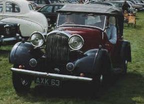 1931 humber 12 hp sport tourer