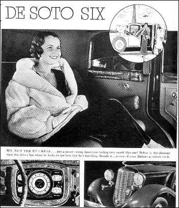 1933 de soto six wnetrze