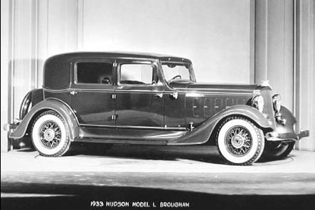 1933 hudson l major eight brougham