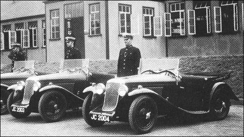 1934 hillman aero minx police