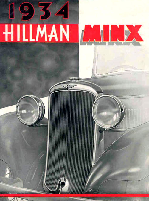 1934 hillman Minx poster