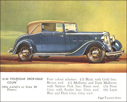 1934 humber 23a