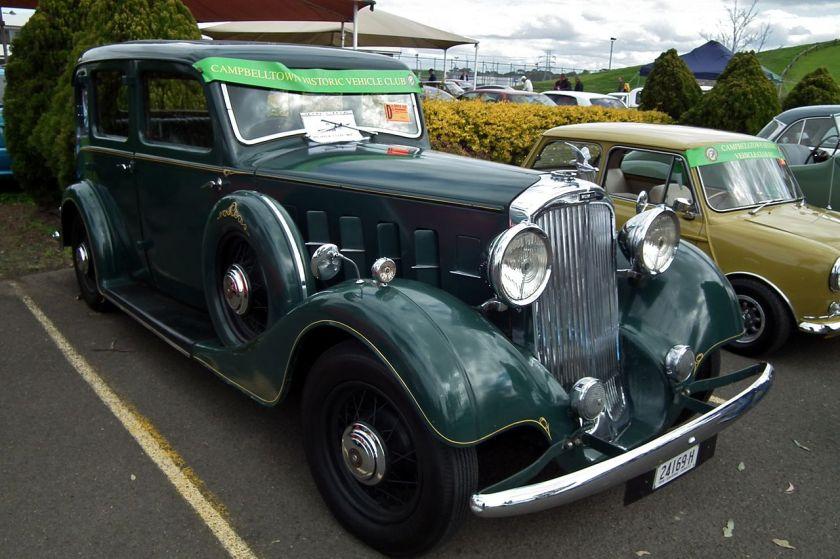 1934 Humber Snipe 80 sedan