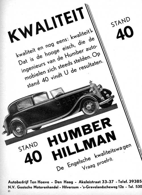 1934 humber ten-hoeve