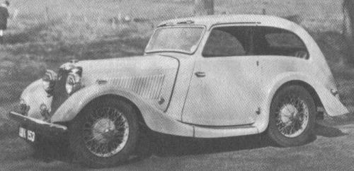 1935 hillman aero minx cresta saloon